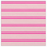 [ Thumbnail: Deep Pink and Pink Striped/Lined Pattern Fabric ]