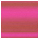 [ Thumbnail: Deep Pink and Red Lined/Striped Pattern Fabric ]