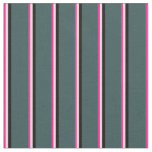 [ Thumbnail: Deep Pink, Beige, Black, and Dark Slate Gray Fabric ]