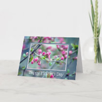 Deep Pink Budding Tree, Generic Mother's Day Card