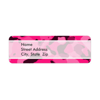 Deep Pink Camo; Camouflage Label