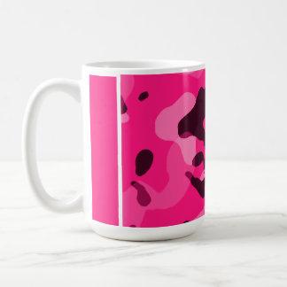 Deep Pink Camo; Camouflage Classic White Coffee Mug