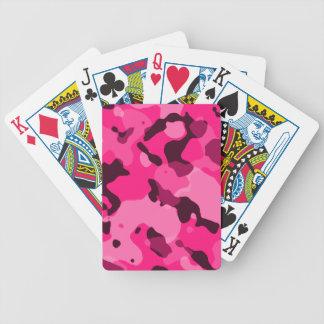 Deep Pink Camo; Camouflage Card Deck