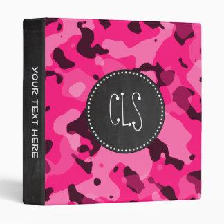 Deep Pink Camo; Chalkboard look Binder