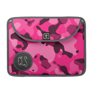 Deep Pink Camo; Chalkboard look Sleeve For MacBook Pro