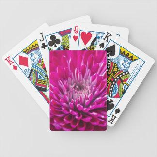 Deep Pink Chrysanthemum Playing Cards
