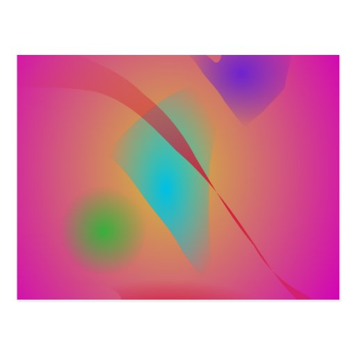 Deep Pink Contrasting Colors Postcard Zazzle
