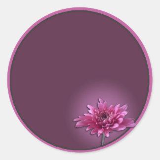 Deep Pink Daisy Classic Round Sticker
