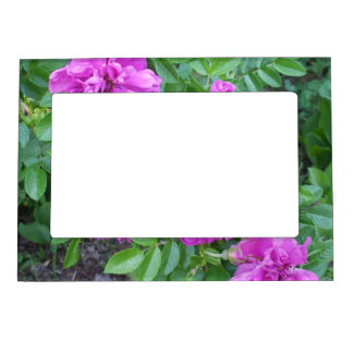 Deep Pink Flowers Magnetic Photo Frame