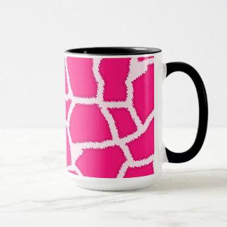 Deep Pink Giraffe Animal Print; Chalkboard Mug