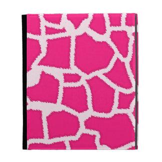 Deep Pink Giraffe Animal Print iPad Case