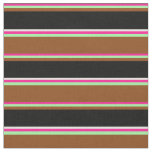 [ Thumbnail: Deep Pink, Green, Brown, Black, and Beige Colored Fabric ]