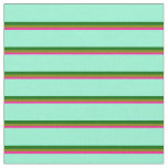 [ Thumbnail: Deep Pink, Green, Dark Green & Aquamarine Lines Fabric ]