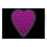Deep Pink Heart. Patterned Heart Design. Greeting Card