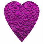 Deep Pink Heart. Patterned Heart Design. Photo Sculptures