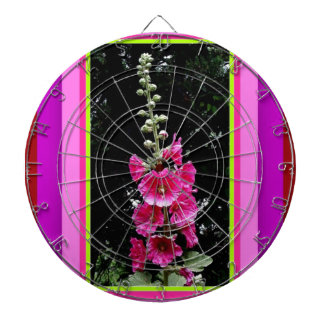 Deep Pink Hollyhock Gifts by Sharles Dartboard
