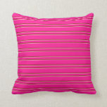[ Thumbnail: Deep Pink, Light Pink, and Maroon Pattern Pillow ]
