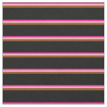 [ Thumbnail: Deep Pink, Light Pink, Brown & Black Colored Fabric ]