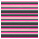 [ Thumbnail: Deep Pink, Light Pink, Dark Slate Gray, and Black Fabric ]