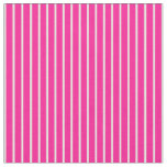 [ Thumbnail: Deep Pink & Light Yellow Colored Lines Fabric ]