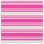 [ Thumbnail: Deep Pink & Light Yellow Colored Pattern Fabric ]