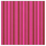 [ Thumbnail: Deep Pink & Maroon Lined/Striped Pattern Fabric ]