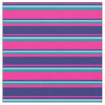 [ Thumbnail: Deep Pink, Midnight Blue, Light Sky Blue & Cyan Fabric ]