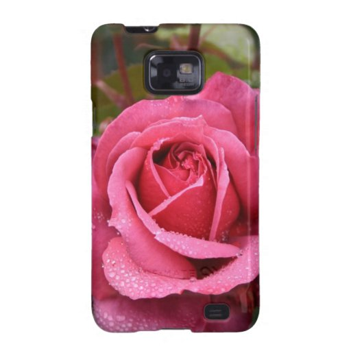 Deep Pink Morning Rose Galaxy SII Case