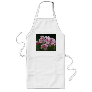 deep pink orchid long apron