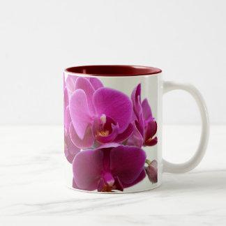 Deep Pink Orchids Mug
