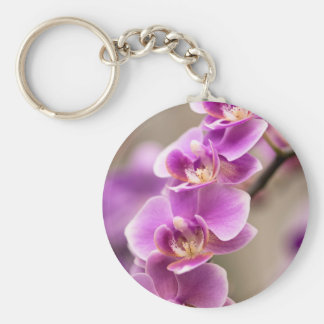 Deep Pink Phalaenopsis Orchid Flower Chain Keychain