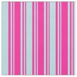 [ Thumbnail: Deep Pink & Powder Blue Colored Lines Fabric ]