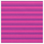 [ Thumbnail: Deep Pink & Purple Colored Stripes Fabric ]