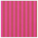[ Thumbnail: Deep Pink & Red Colored Lines/Stripes Pattern Fabric ]