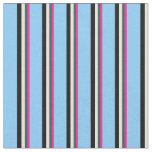 [ Thumbnail: Deep Pink, Slate Gray, Beige, Black & Sky Blue Fabric ]