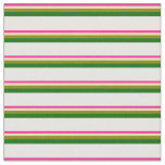 [ Thumbnail: Deep Pink, Tan, Green, Dark Green, and White Fabric ]