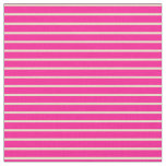 [ Thumbnail: Deep Pink & Tan Striped/Lined Pattern Fabric ]