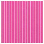 [ Thumbnail: Deep Pink & Tan Stripes Pattern Fabric ]