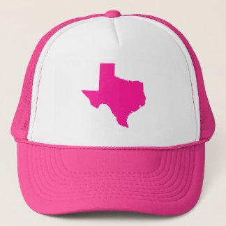 Deep Pink Texas Shape Trucker Hat