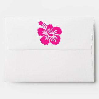 Deep Pink Tropical Hibiscus Flower Envelope