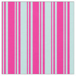 [ Thumbnail: Deep Pink & Turquoise Colored Lines Fabric ]