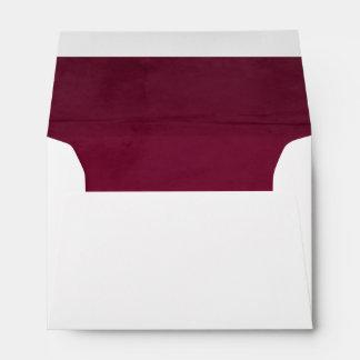 Deep Pink Velvet Textured Lining A6 Envelope
