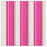 [ Thumbnail: Deep Pink, White, and Maroon Colored Pattern Fabric ]