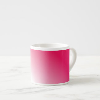 Deep Pink White Ombre Espresso Cup