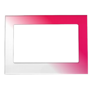 Deep Pink White Ombre Magnetic Picture Frame