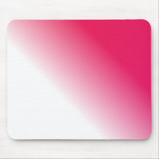 Deep Pink White Ombre Mouse Pad