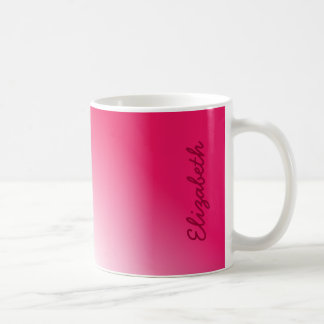 Deep Pink White Ombre Mugs