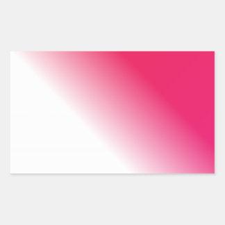 Deep Pink White Ombre Rectangular Sticker