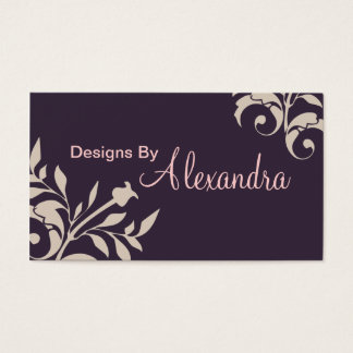 Deep Purple Almond Swirl Business Card