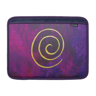 Deep Purple And Gold Modern Abstract Art Painting MacBook Sleeve